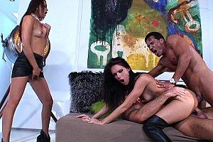 image for bareback naked threesome
